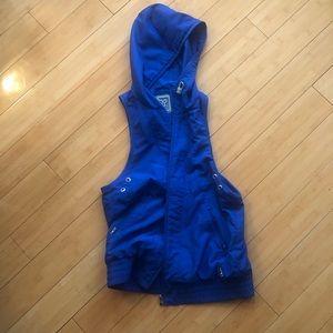 Blue TNA (Aritzia) Jacket with Hood, outerwear